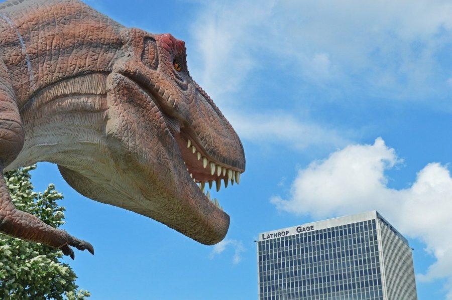 Dinosaurs statue in Kansas City
