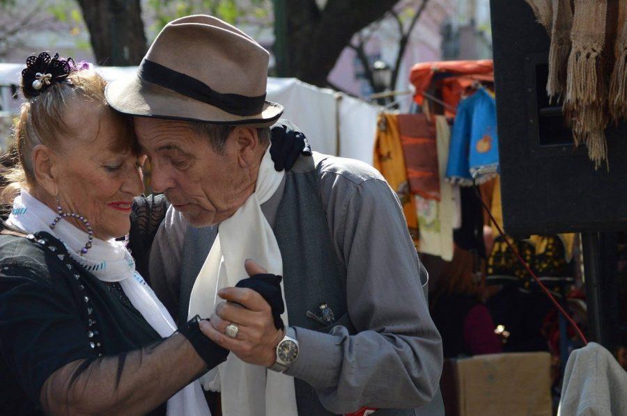 Romantic latin dance tango in Buenos Aires
