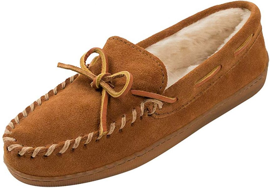 Brown Moccasin slippers for her on Valentine's Day.