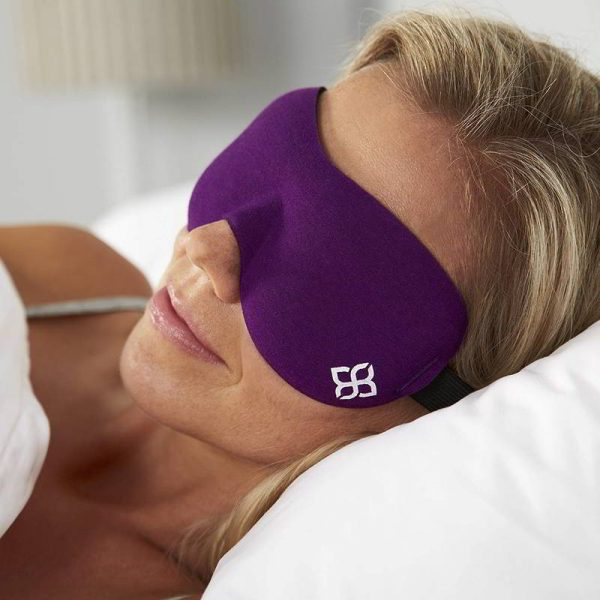 Purple sleeping mask for romantic travel gift for her.
