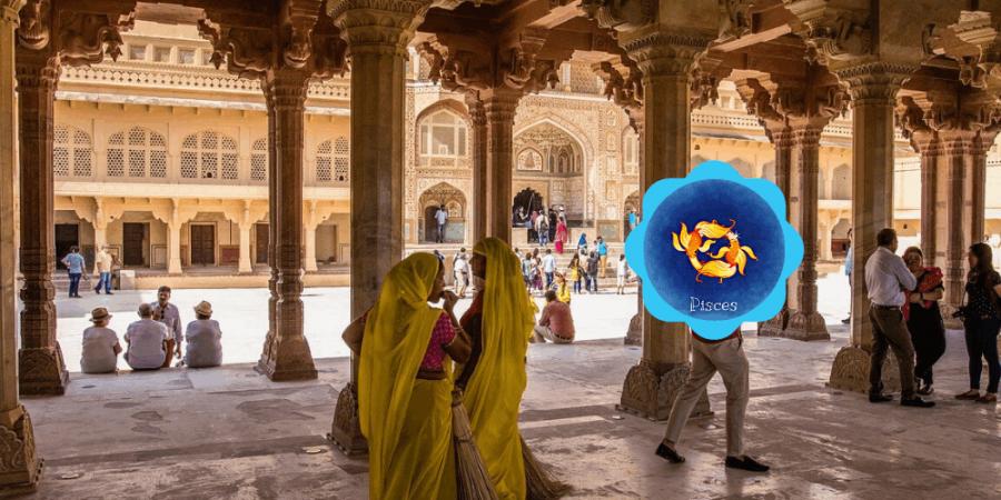 Pisces travel to India based on travel horoscope.