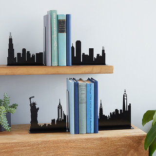 Location based inspired bookends decor
