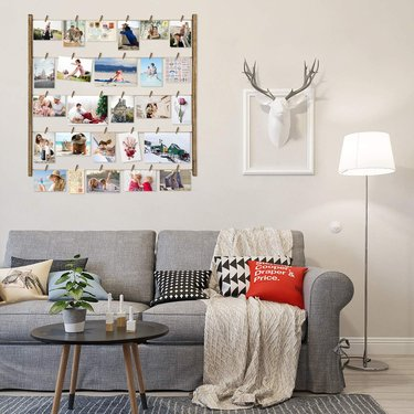 Photo wall display for house or apartment decoration