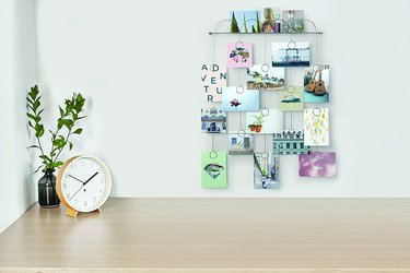 Postcard wall display decoration