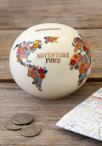 Travel piggy bank for adventure funds