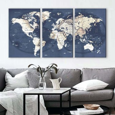 World Map Prints For Wall Decor