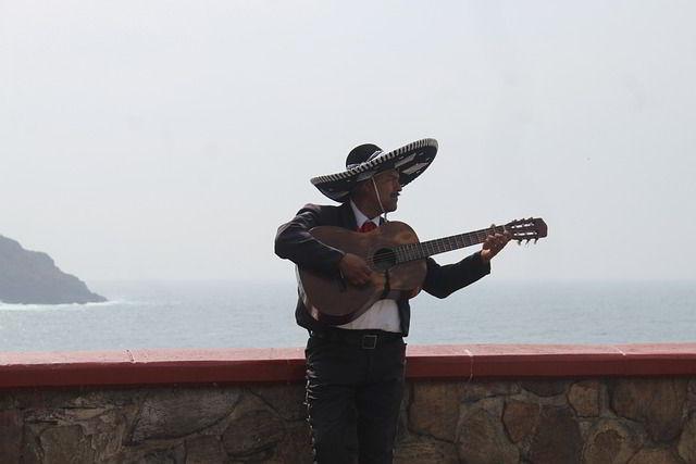 musician troubadour Mexican sombrero
