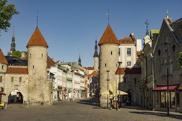 Castle entrance in Estonia