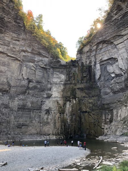 Waterfalls at Taughannock Falls State Park in NY